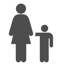 Mother Child Flat Icon vector image