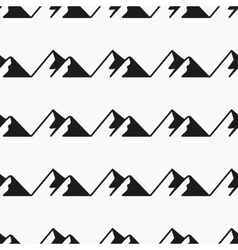 Mountains seamless pattern Tourism vector image vector image