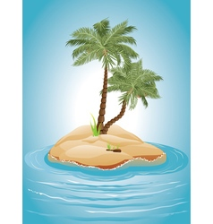 Palm Tree on Island3 vector image vector image