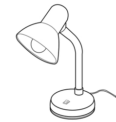 Reading lamps vector image vector image