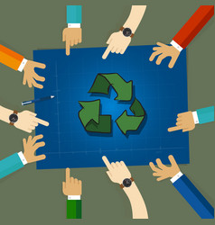 recycling plan strategy on environmentally vector image