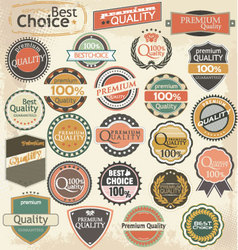 Retro label style collection set vector