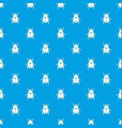 Scarab pattern seamless blue vector