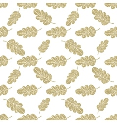 Seamless oak leaves background vector