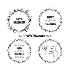 Set of happy halloween vintage badges emblems and vector image vector image