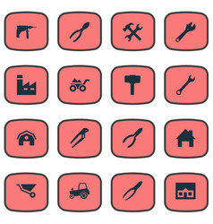 Set of simple repair icons vector