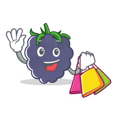 Shopping blackberry character cartoon style vector
