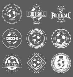 Soccer Football Typography Badge Design Element vector image vector image