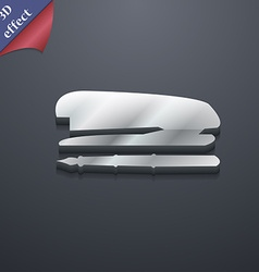 Stapler and pen icon symbol 3d style trendy modern vector