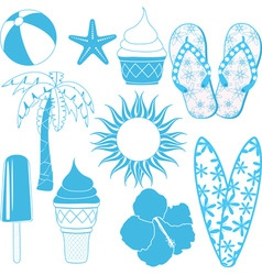 summer objects vector image