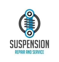 Suspension template logo vector