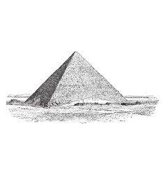 The great pyramid of giza ancient egypt vintage vector