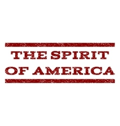 The spirit of america watermark stamp vector