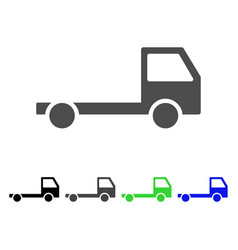 Truck chassis icon vector