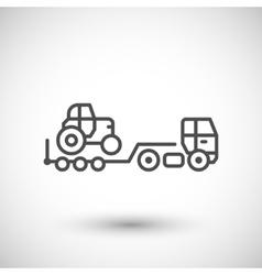 Truck trailer line icon vector