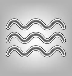 Waves sign pencil sketch vector