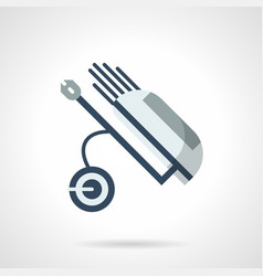 Wheel golf caddy flat color icon vector