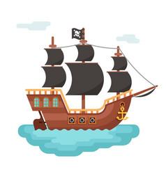 wooden pirate buccaneer filibuster corsair sea dog vector image