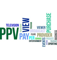 Word cloud ppv vector