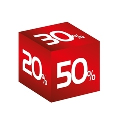 Cube discount percent vector