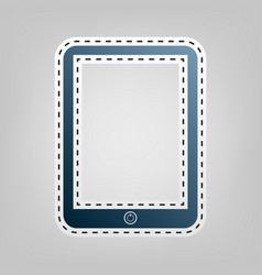 computer tablet sign  blue icon with vector image
