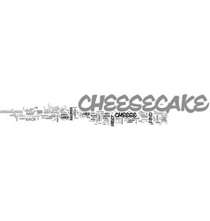 A brief history of cheesecake text word cloud vector