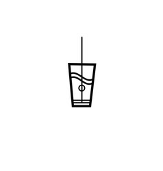 Sign of a glass of water vector