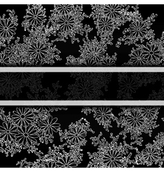 Floral decorative background template frame design vector