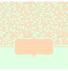 Card with plant otnament pastel color vector