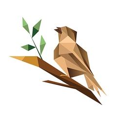 Origami sparrrow vector