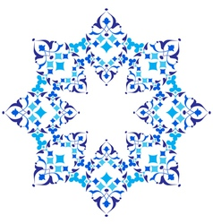 Ottoman motifs blue design series of fifty five vector