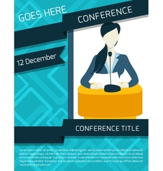Conference announcement template vector