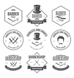 Barber shop labels vector