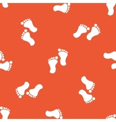 Orange footprint pattern vector