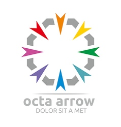 Logo octa arrow design icon symbol star vector