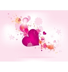 Abstract floral background for valentines day with vector