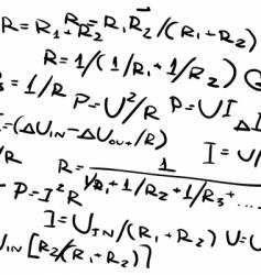 formulas vector image