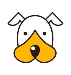 Puppy head vector