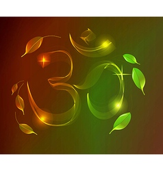 Abstract colorful om sign over dark background vector