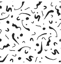 abstract ink flourish and spots pattern vector image vector image