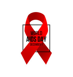 aids awareness day background vector image vector image