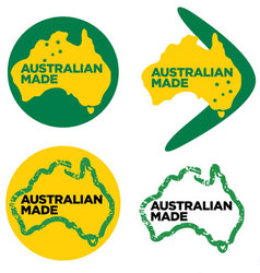 Australian made logos vector image vector image