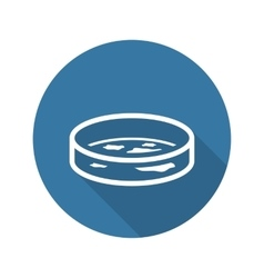 Bacteriology icon flat design vector