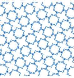 blue decorative geometric seamless pattern design vector image
