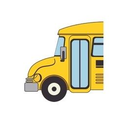 bus school transport icon vector image