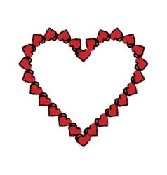 cartoon valentine day heart decorative vector image