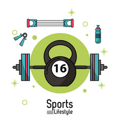 Colorful poster of sports lifestyle with vector