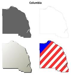 Columbia map icon set vector