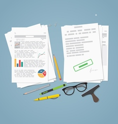 Documents pile concept vector