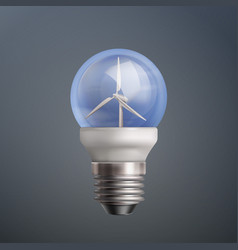 energy wind turbine vector image vector image